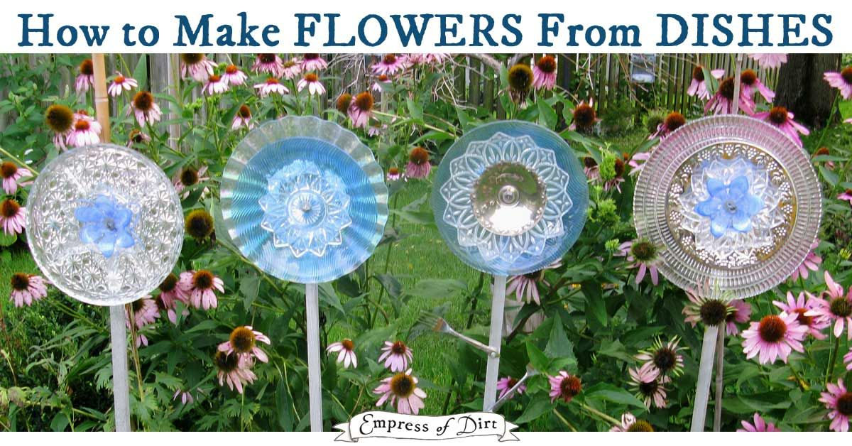 Turn Old Dishes And Serving Plates Into Fabulous Garden Art Flowers