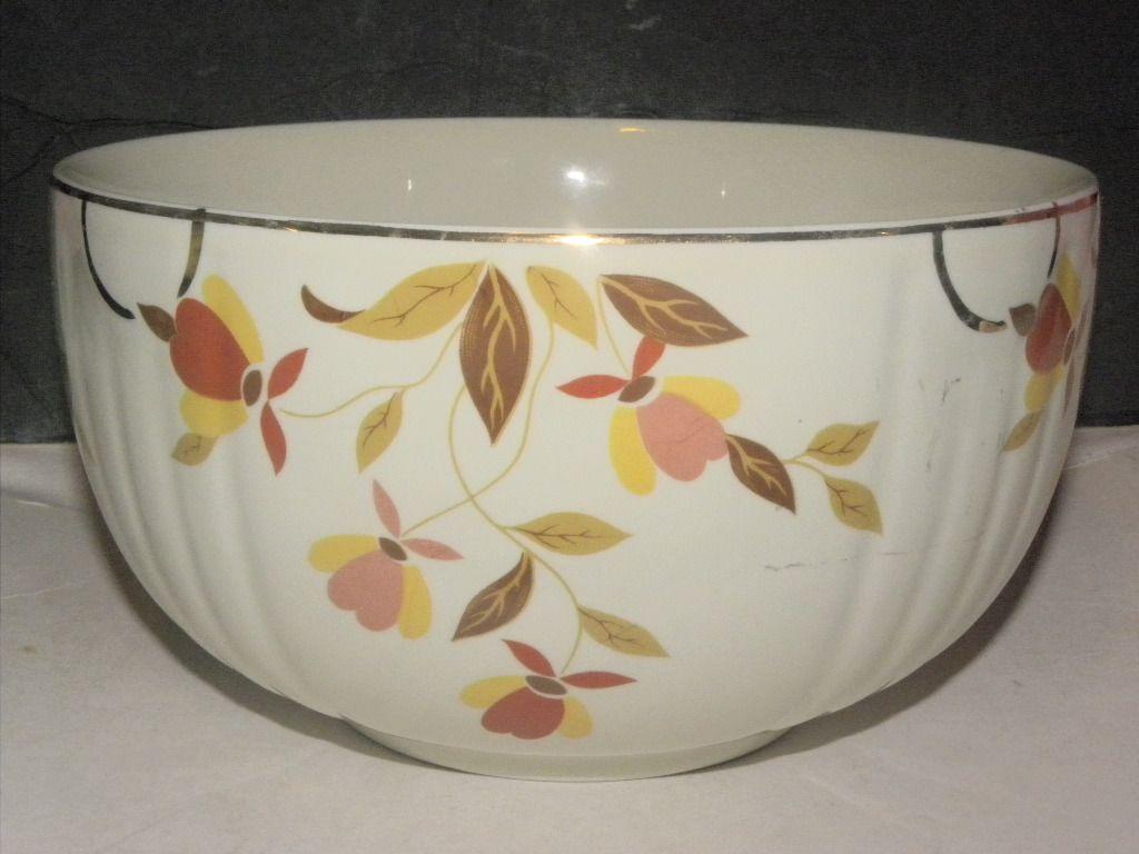 Vintage Bowl Autumn Leaf Pattern Vintage Bowls Autumn Leaves Bowl