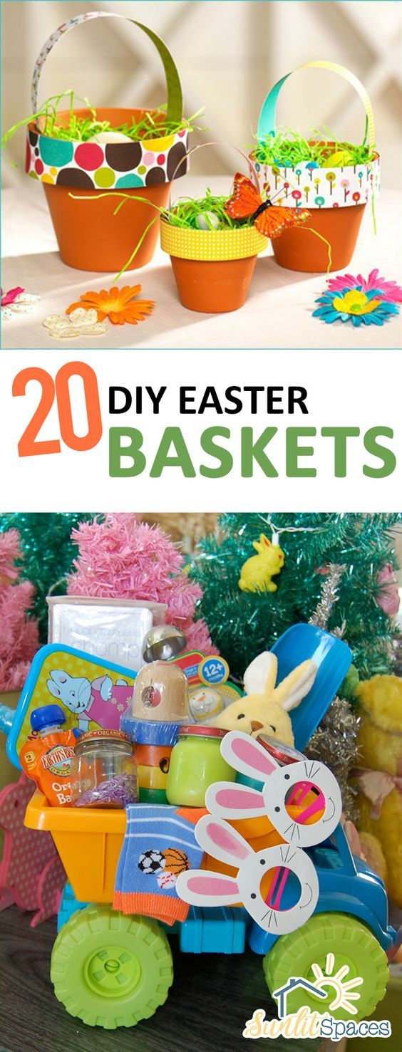 20 diy easter baskets cheap easter baskets homemade easter easter negle Gallery