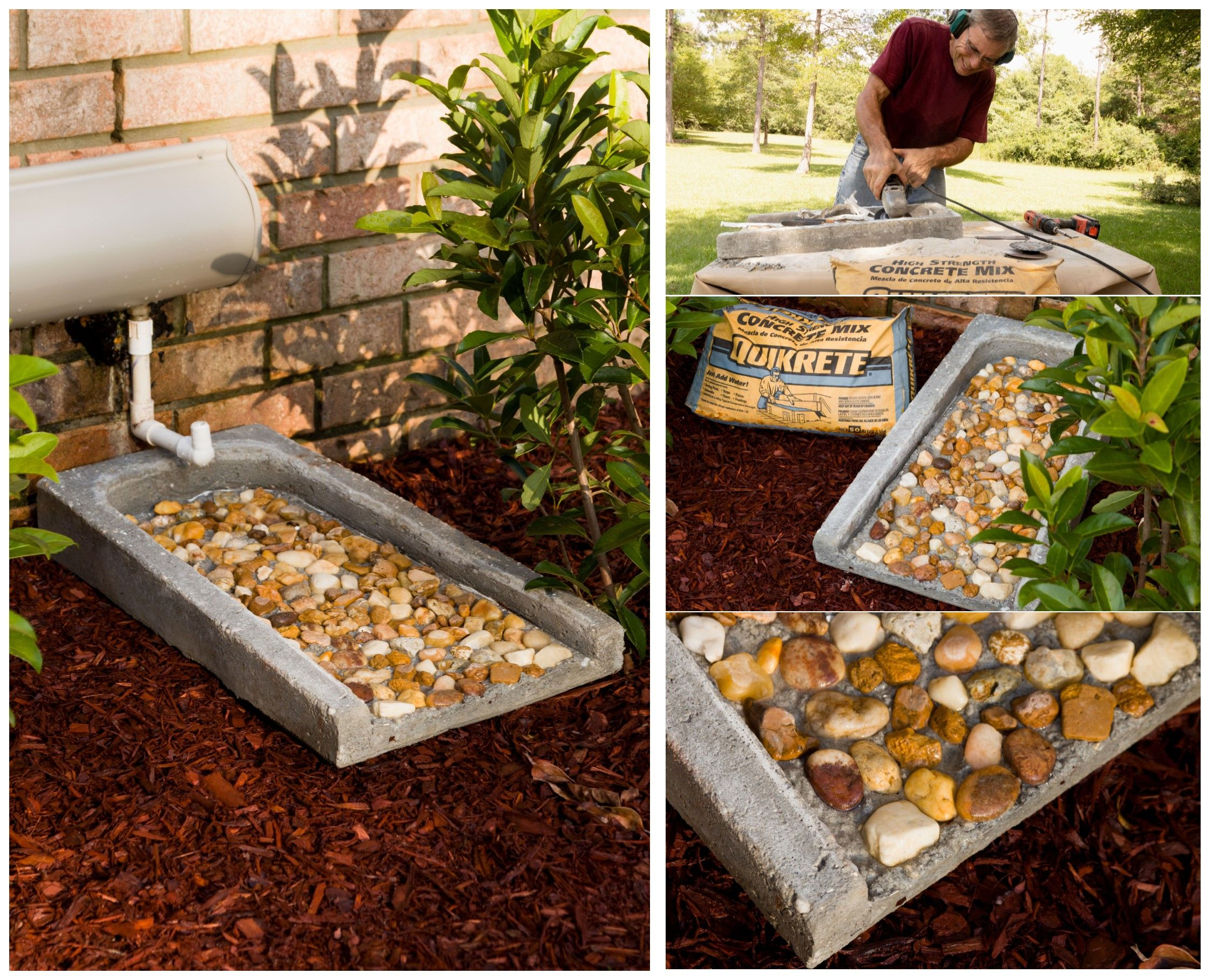 Pin By Quikrete On Diy Yard Garden Projects Splash Blocks Concrete Diy Backyard Projects