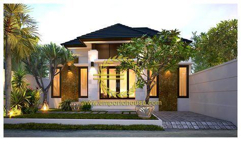 jasa desain rumah 1 lantai 2 kamar lebar 11 m, luas tanah