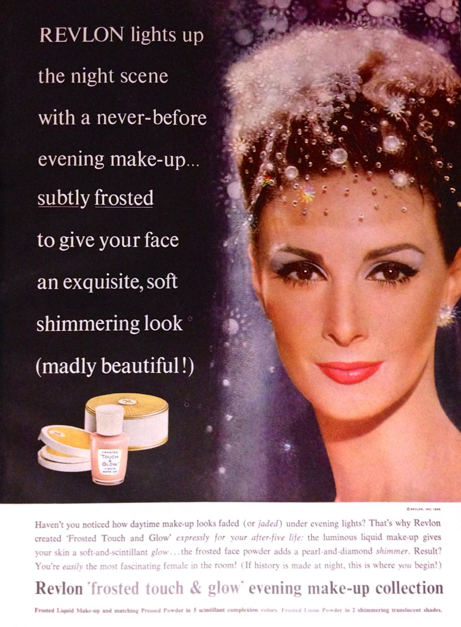 Revlon 'Frosted Touch & Glow' Cosmetics Ad, 1963