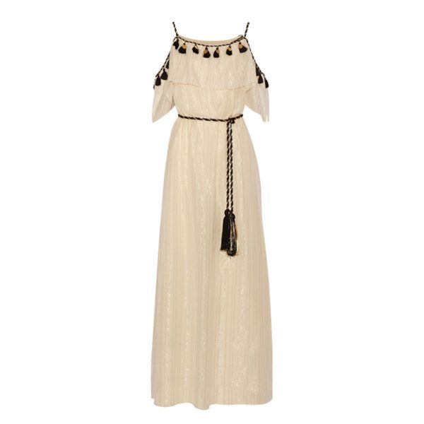 Floaty Maxi Dress - Invest in an ethereal, floor-grazing frock that you can wear for everything from brunch tobeach vacations—a lightweight cotton-and-silk blend keeps you cool for those particularly sweltering days. Adda leather jacket and sandals for an alfresco dinner when the temperature drops.