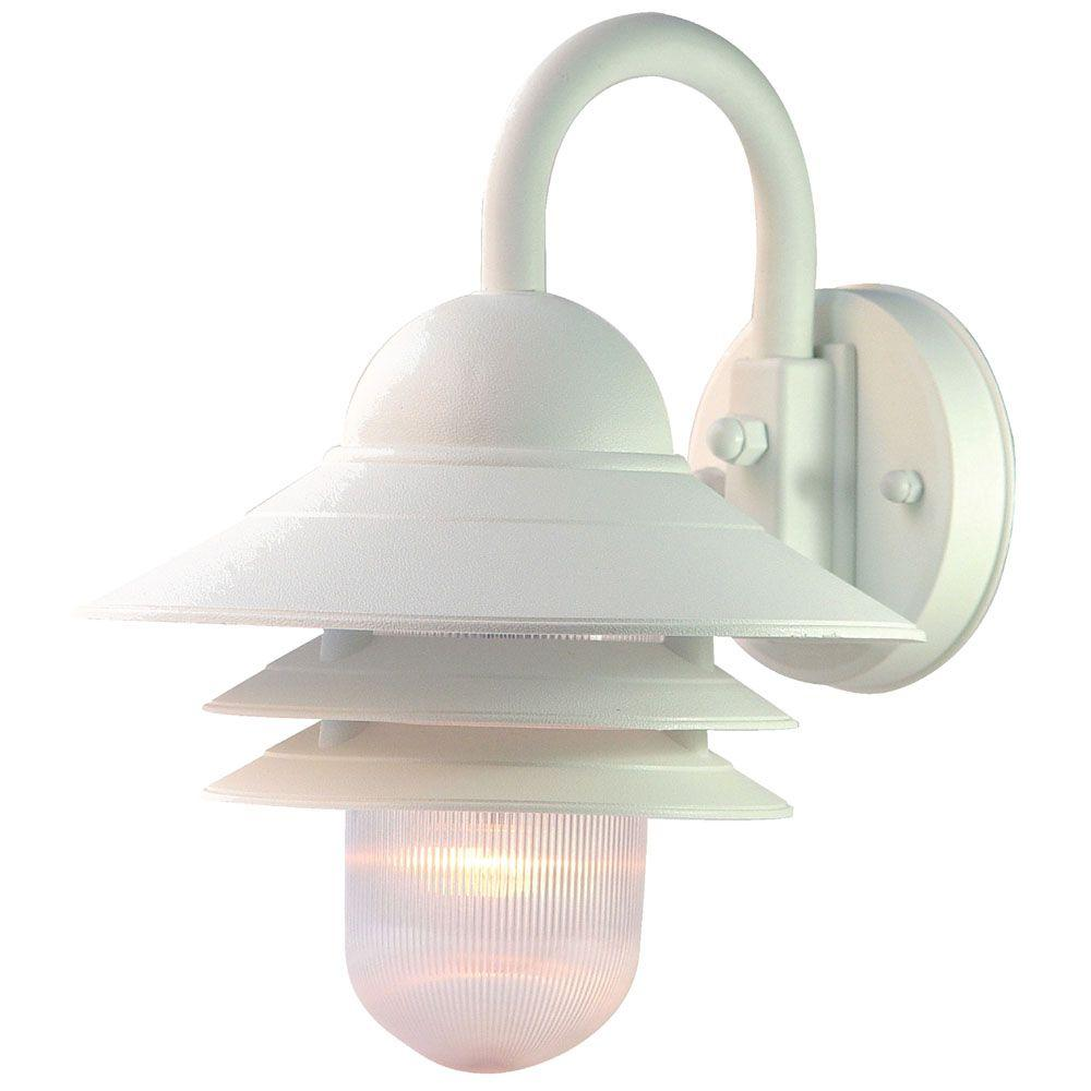 Acclaim Lighting Mariner Collection 1 Light Textured White Outdoor Wall Mount Fixture