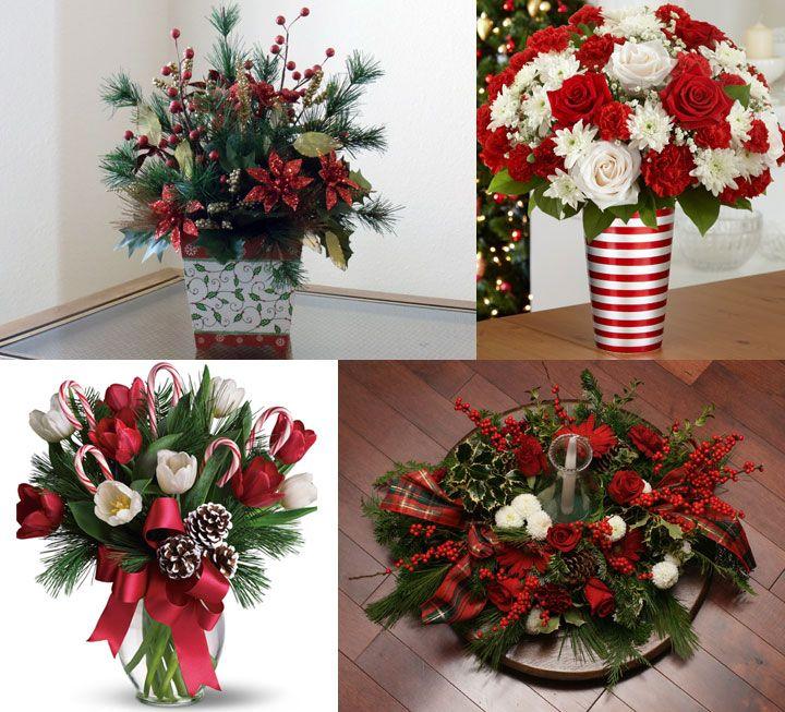 Resultado de imagen para decoracion de navidad para - Centros florales navidenos ...