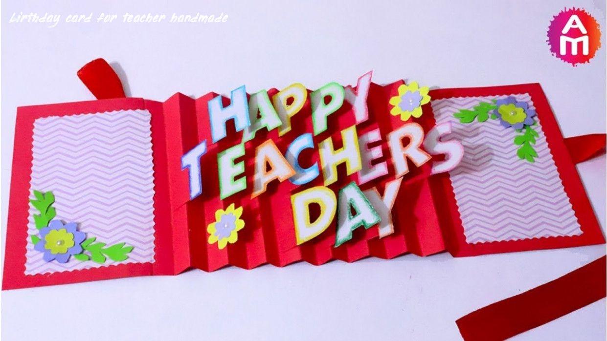 8 Birthday Card For Teacher Handmade In 2020 Teacher Birthday Card Greeting Cards For Teachers Happy Teachers Day Card