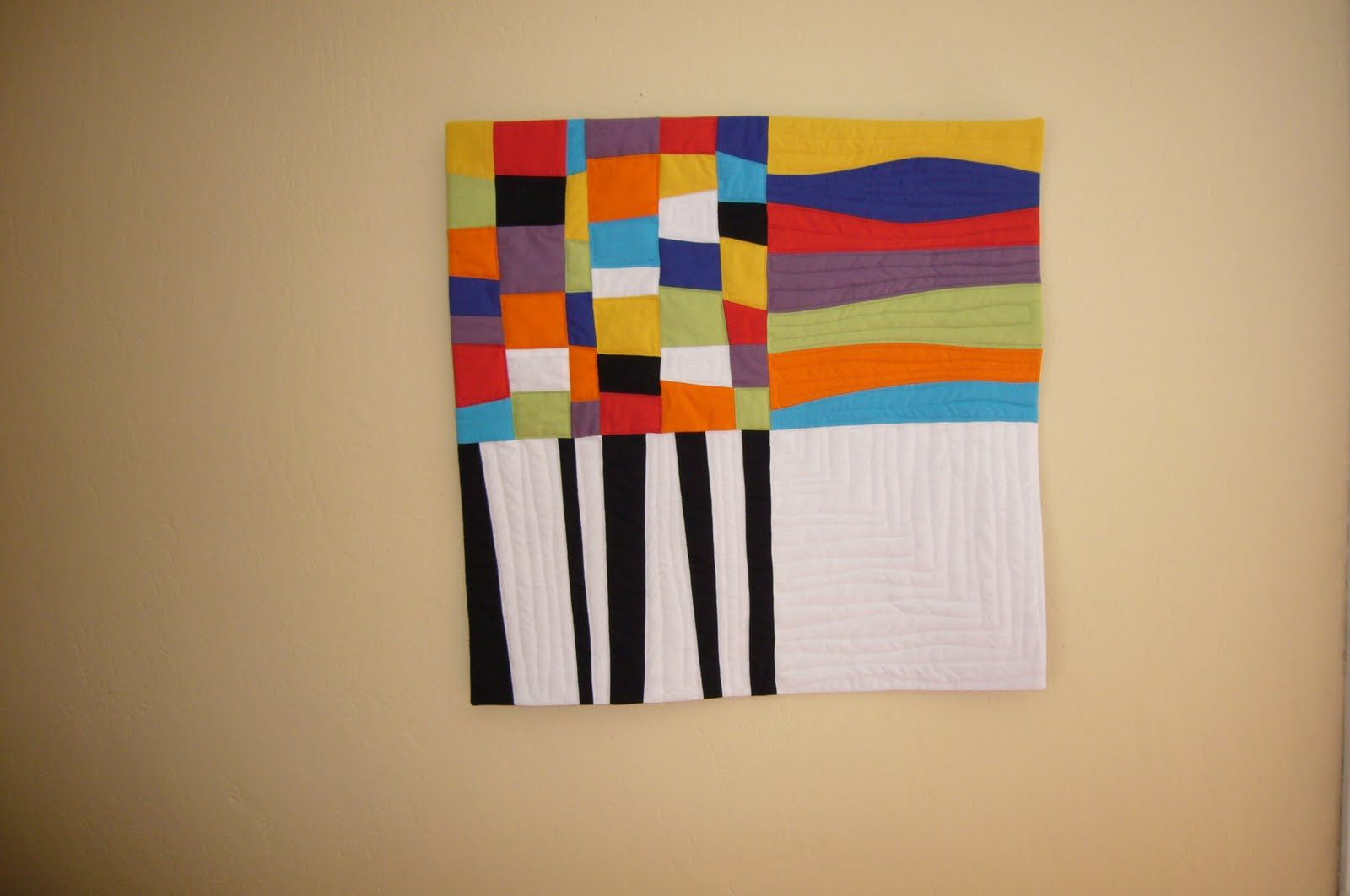 Modern Art Quilts | 3patchcrafts: 50/50 contemporary art quilt