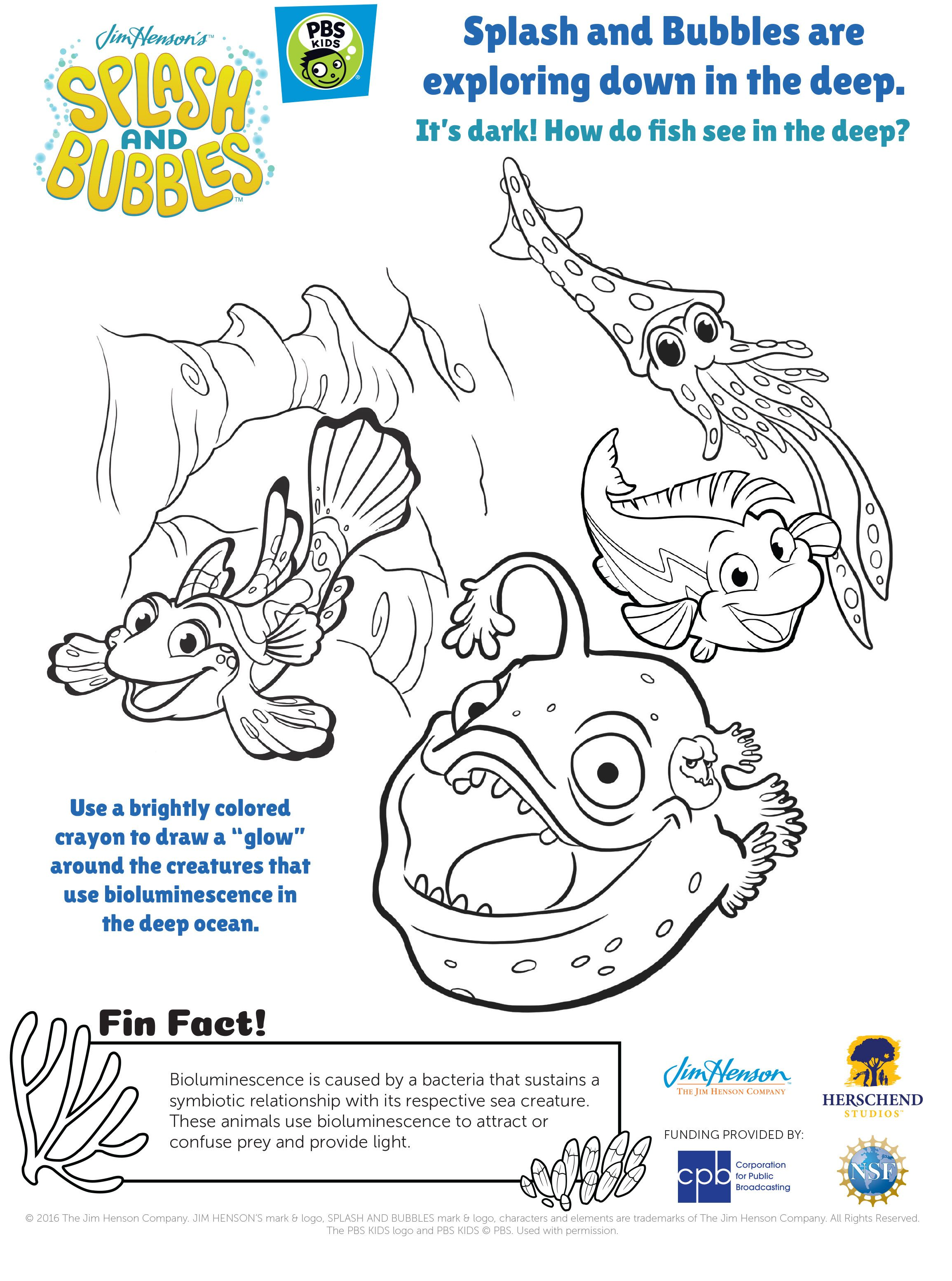 underwater bubbles coloring pages - photo#20