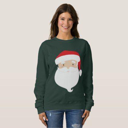 Cute Christmas Santa Head Holiday Sweatshirt Xmas Christmaseve Christmas Eve Christmas Merry Xm Sweatshirts Women Women Hoodies Sweatshirts Sweatshirts