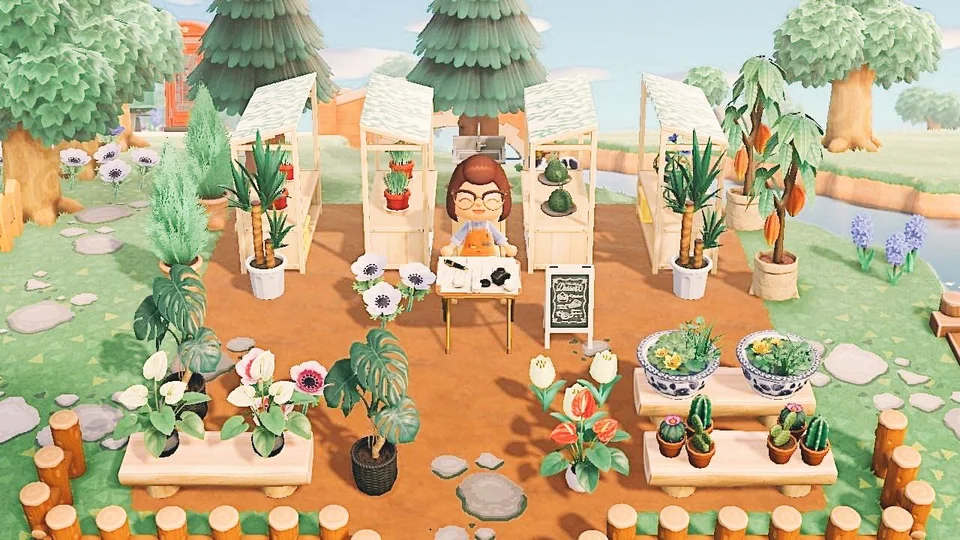 Plant Shop Open For Business Watch Your Back Leif I Know The Sign Says Desserts Lol Animal Crossing Villagers Animal Crossing Wild World New Animal Crossing