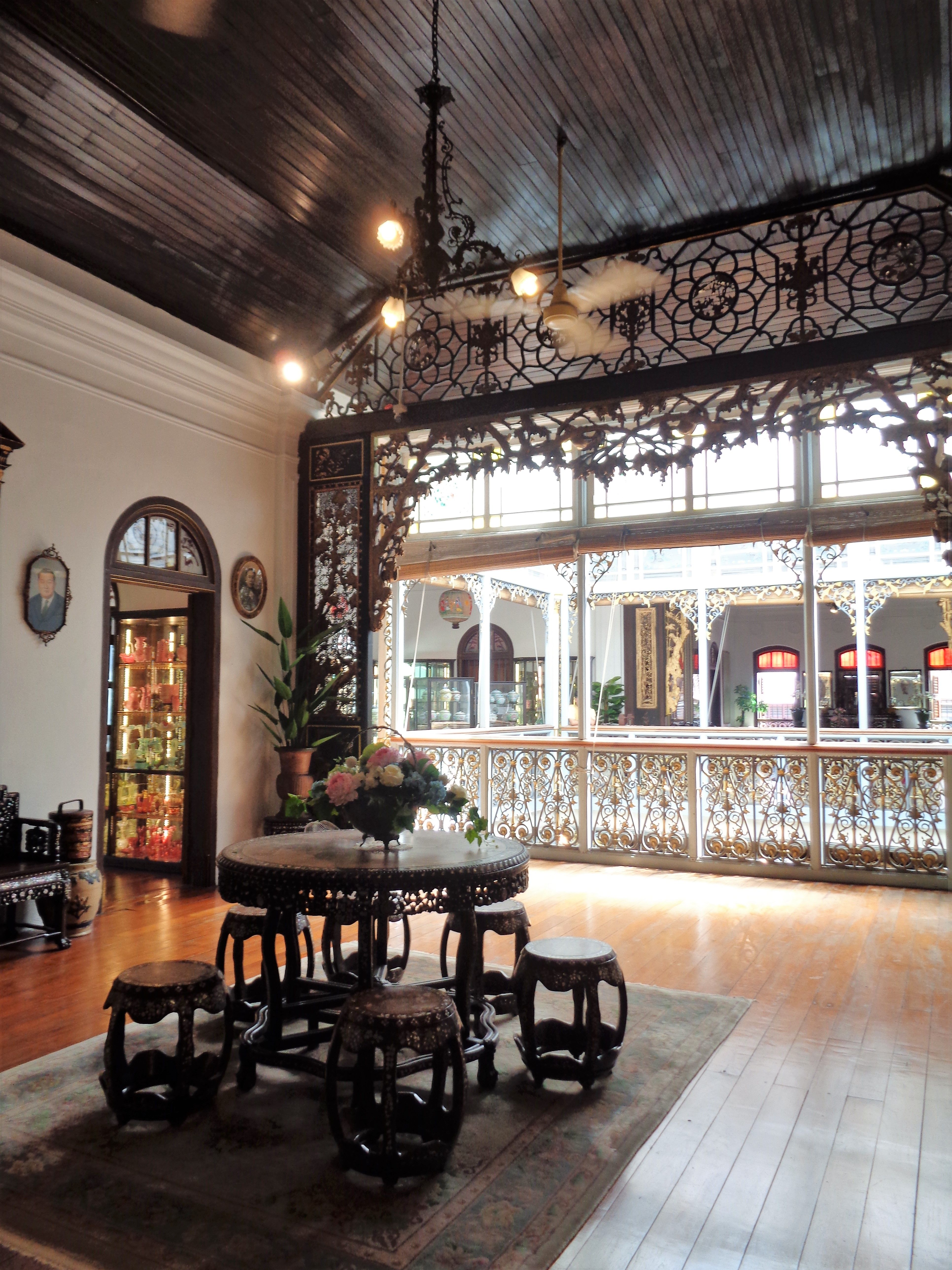 The second floor of the Penang Peranakan Mansion