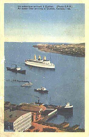 Empress du Canada du C.P arrivant au Port de Quebec