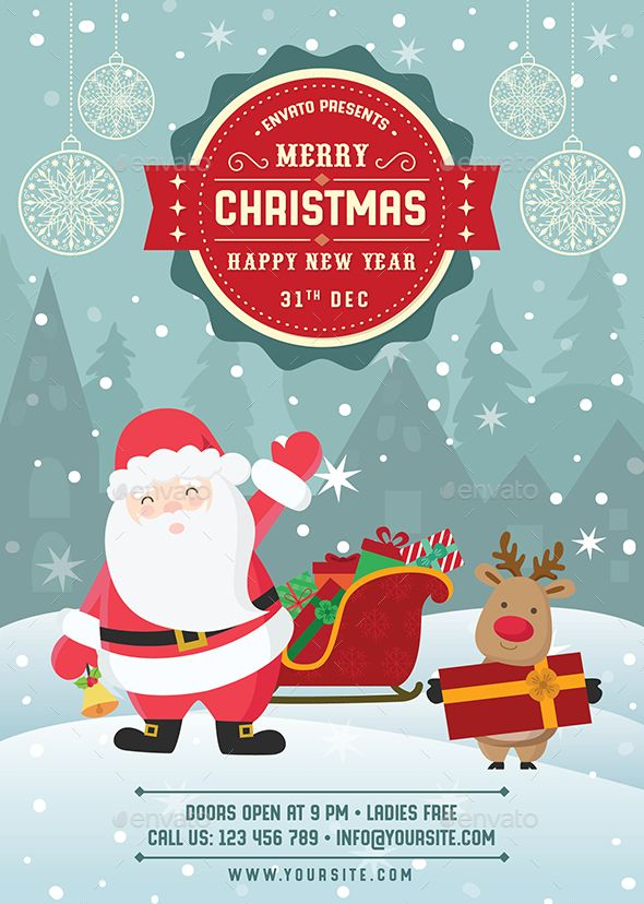 Merry Christmas \ Happy New Year Flyer Merry, Flyer template and - free holiday flyer templates word