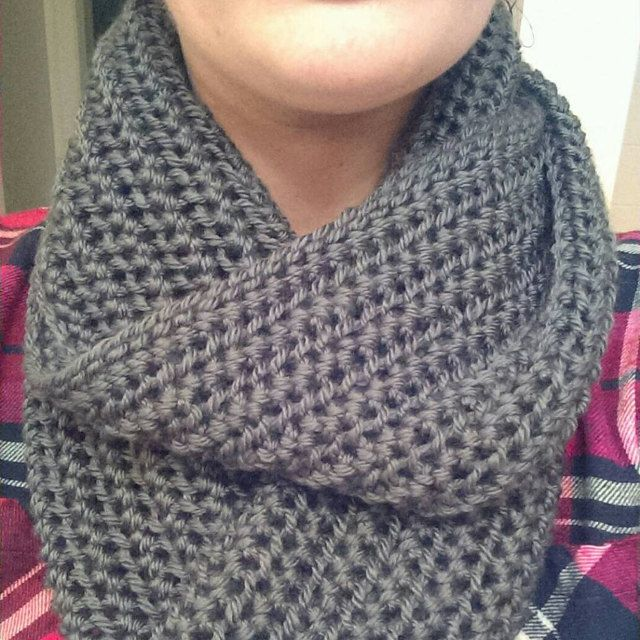 Photo of Teal Infinity Scarf – Dark Teal Scarf – Chunky Knit Scarf – Circle Scarf – Ready to Ship