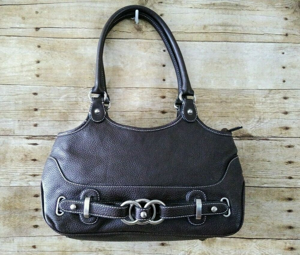 Wilsons Leather Brown Hobo Bag Pebbled Leather Purse
