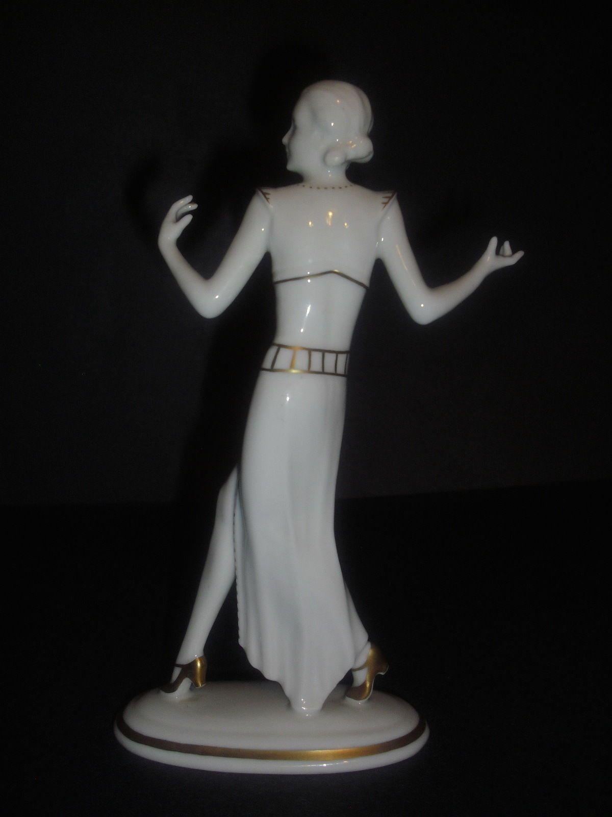 ART DECO HUTSCHENREUTHER-ROSENTHAL FIGURINE NUDE GIRL