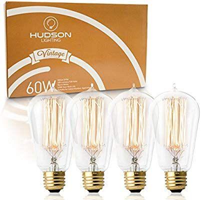 Antique Vintage Edison Bulb 4 Pack - 60 watt - Hudson Lighting 60
