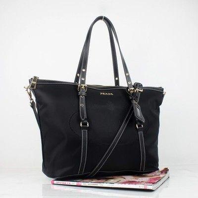 fc45591905d8 Prada Nylon Shoulder Bags Black 8503: A look created by purseside on  purseside.com