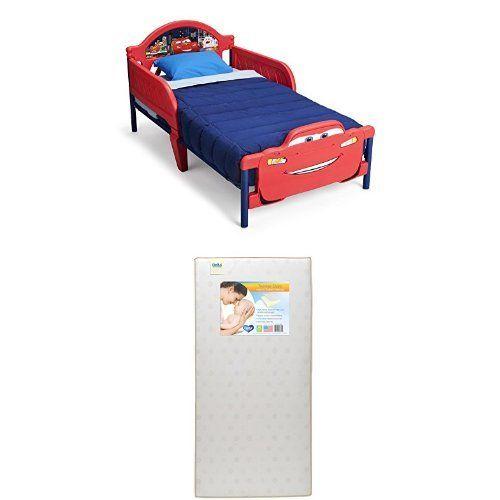 Delta Children 3D Footboard Toddler Bed Disney Pixar Cars With Twinkle Stars Crib
