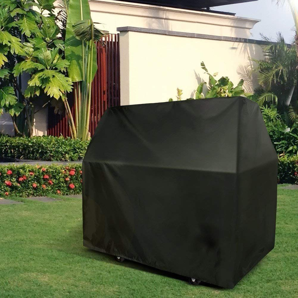 Naturespace Barbecue Cover Heavy Duty Wind Resistant Grill Cover Oxford Fabric Waterproof Gas Bbq Grill Cover With Storage Ba Outdoor Patio Outdoor Grill Cover