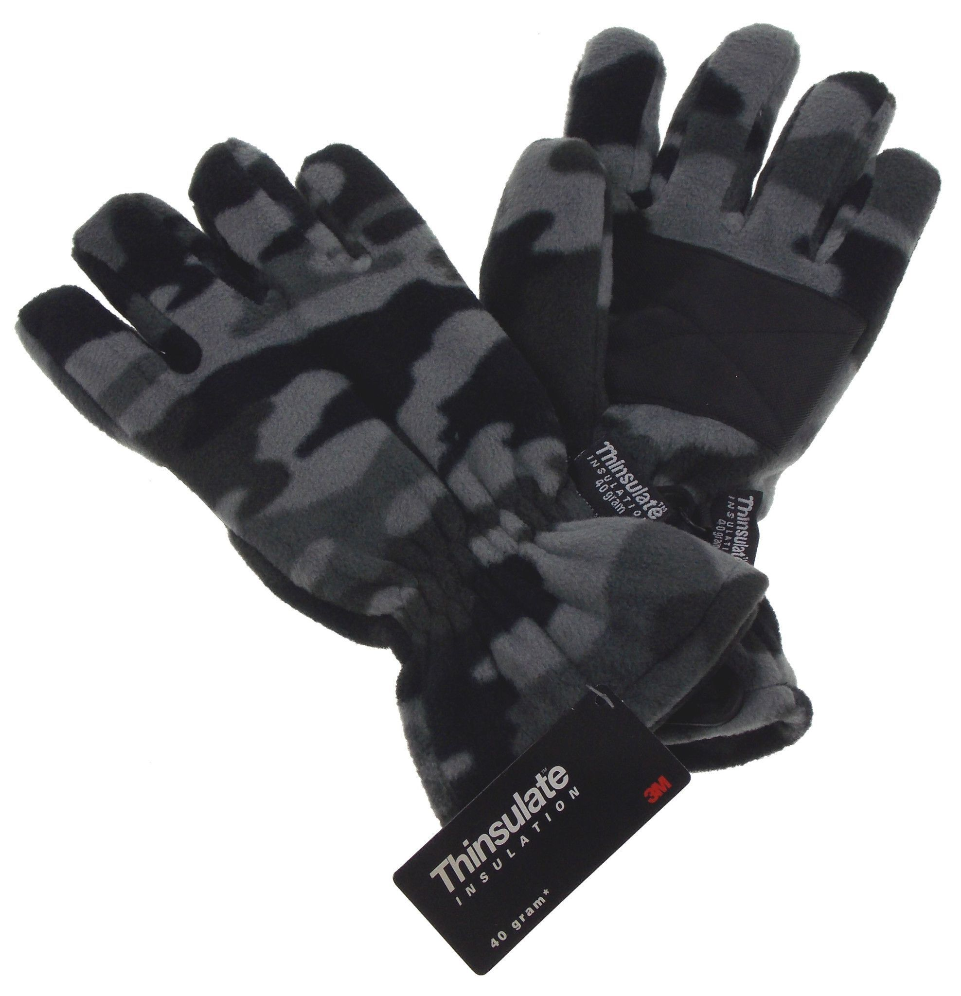 Mens Mittens Fleece Lined Thinsulate Insulation 3m Adults Winter Warm Gloves