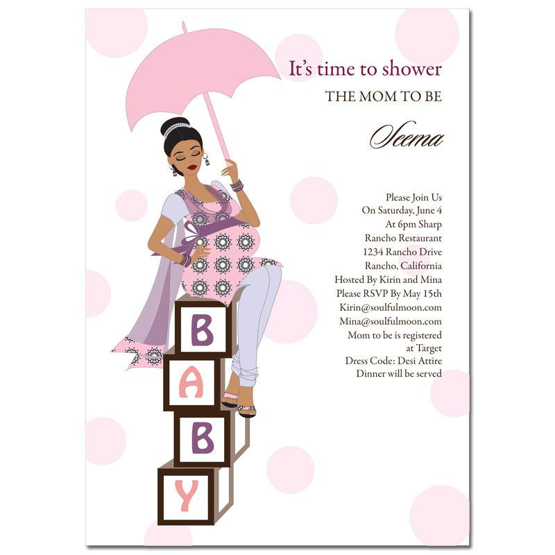 Diva Baby Blocks Indian Baby Shower Invitation by Soulful Moon ...