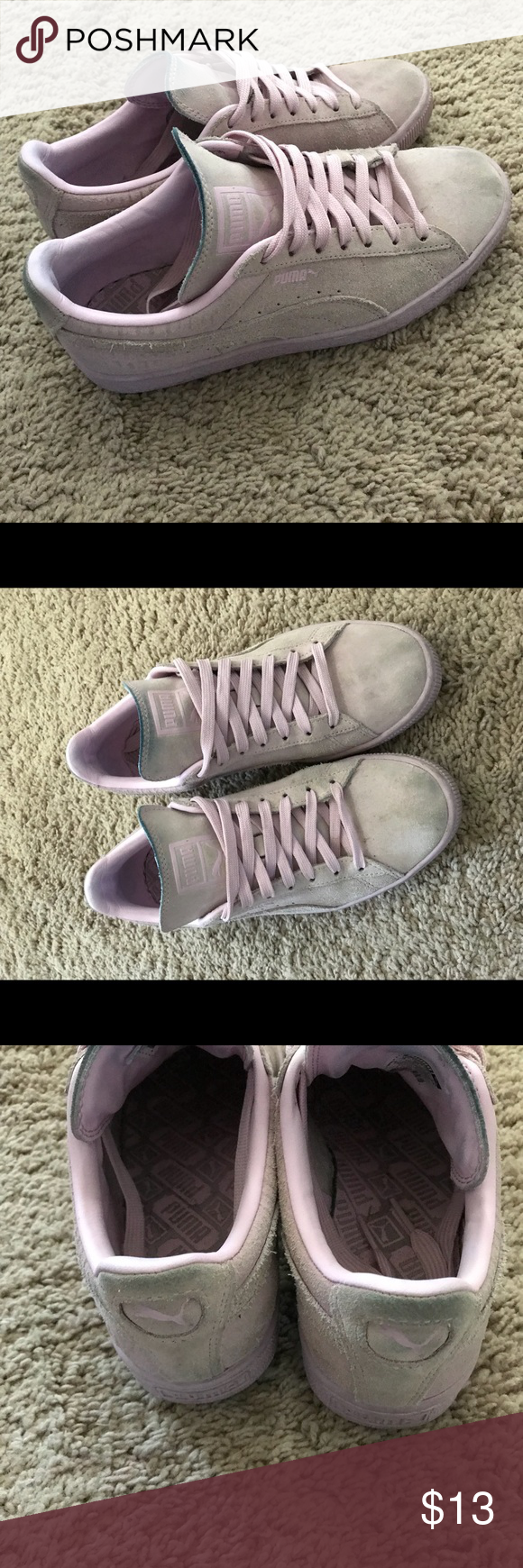 online store 61498 95028 Puma sneakers blush Used puma sneakers blush color a little discoloration  from jeans and wearing besides that good condition of you know how to clean  them ...