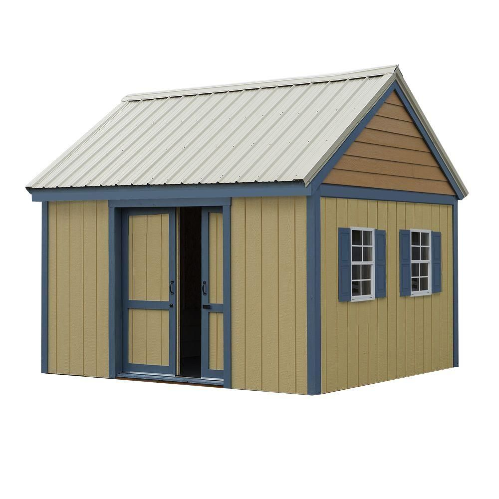 brookhaven 10 ft x 12 ft wood storage shed kit clear wood