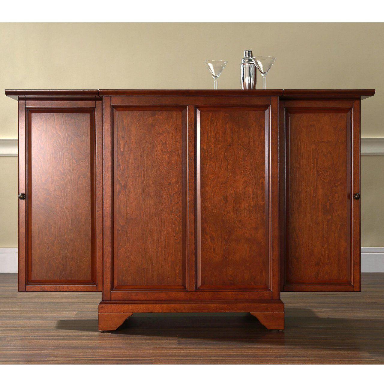 Crosley LaFayette Expandable Bar Cabinet | Bar cabinet ...