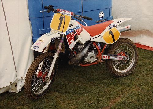 Kurt Nicoll Ktm 500 Factory 1990 Ktm Vintage Motocross Motorcycle Riders