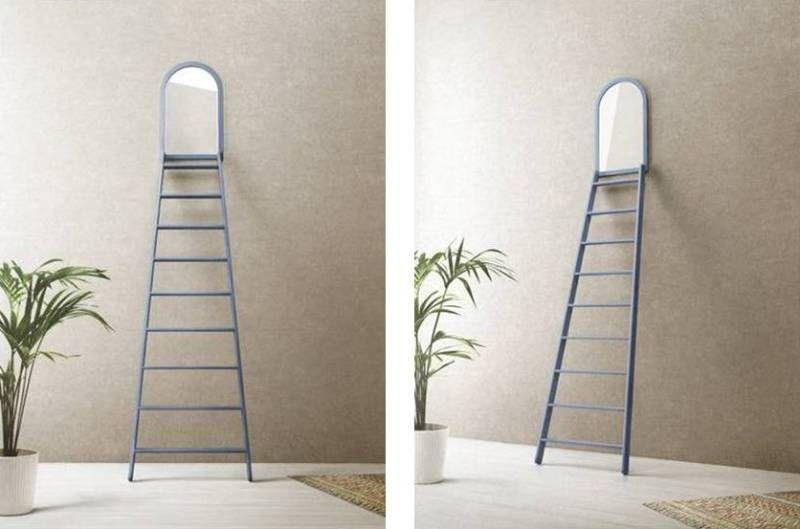 specchio con scala Narciso by Officinanove  Leggi l'articolo su www.designlover.it