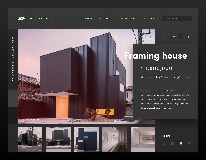 Modern Works 2x Real Estate Website Design Real Estate Web Design Real Estate Site