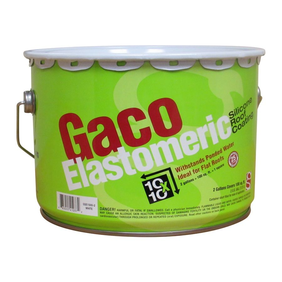 Gaco 2 Gallon Elastomeric Reflective Roof Coating 25 Year Limited Warranty Roof Coating Elastomeric Roof Coating Gallon