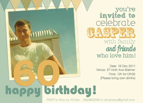 Dad S 60th Birthday Invitation 60th Birthday Invitations