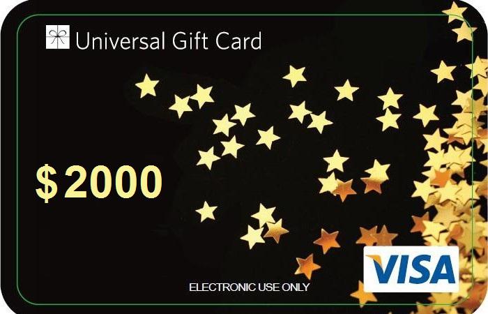 International Visa Debit Gift Card 2000 Universal Gift Card Egift Card Gift Card