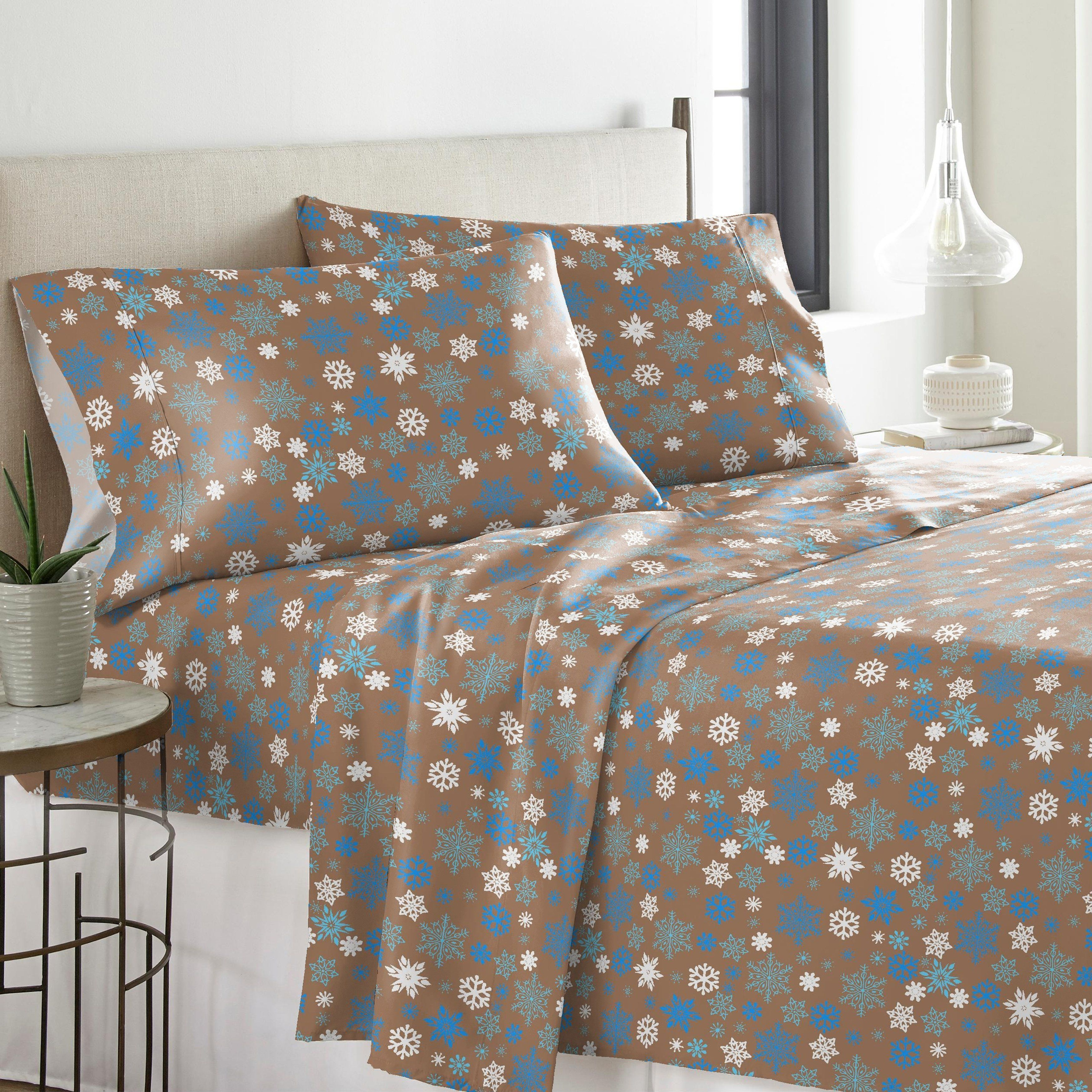 Solid Or Print Cotton Heavyweight Flannel Sheet Set Twin Sage