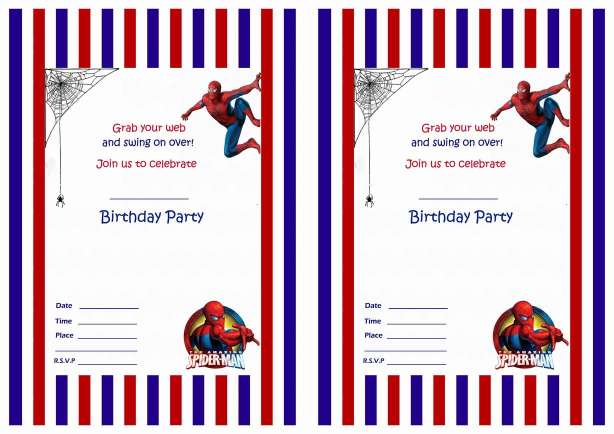 Spiderman Birthday Invitations | spiderman birthday | Pinterest