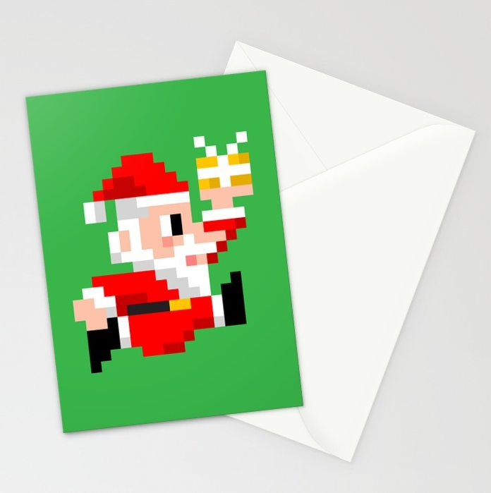 8-bit Santa Claus Christmas Cards. Because Santa Beats