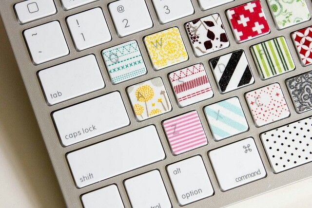 Washi Tape On Your Computer Keyboard Washi Tape Crafts Washi