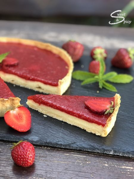 Photo of Strawberry semolina tart