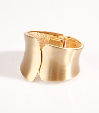 4c942d4a5aae Pulsera ancha brazalete mujer metal dorado