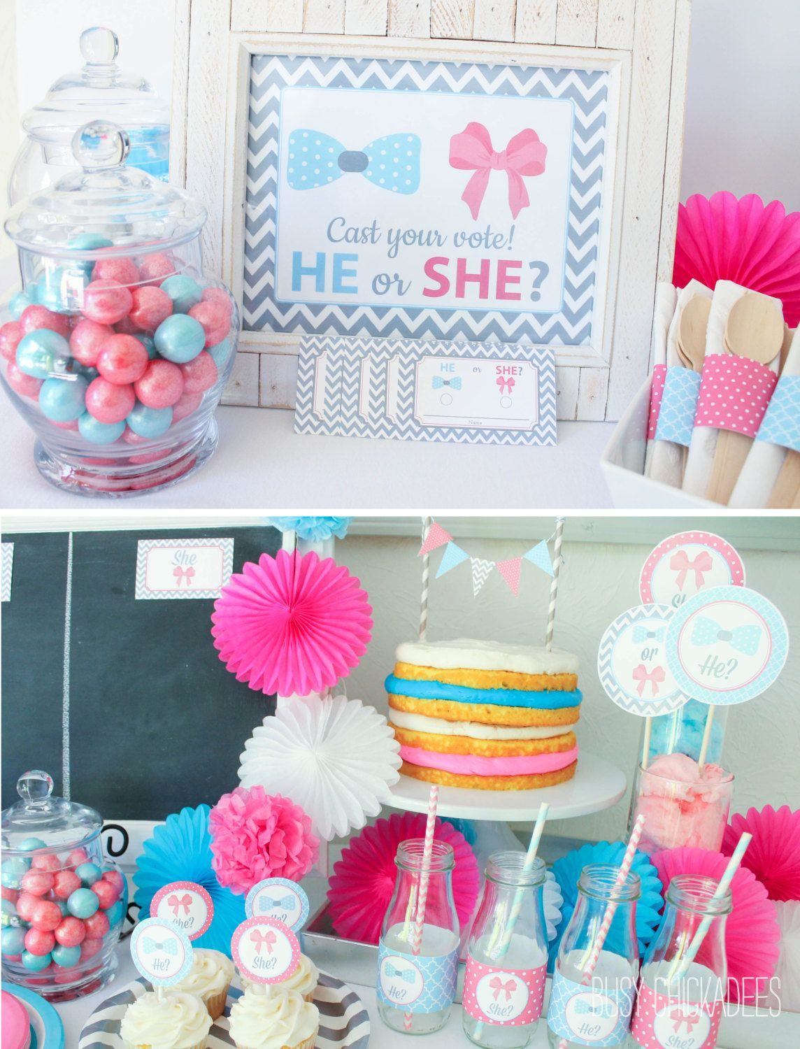10 Baby Gender Reveal Party Ideas Baby Shower Pinterest Gender