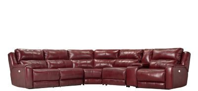 Harlington 6 Pc Leather Power Reclining Sectional Sofa Power