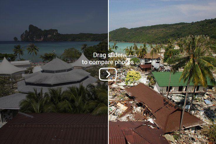 Indian Ocean Tsunami Before And After Indian Ocean Tsunami Ocean