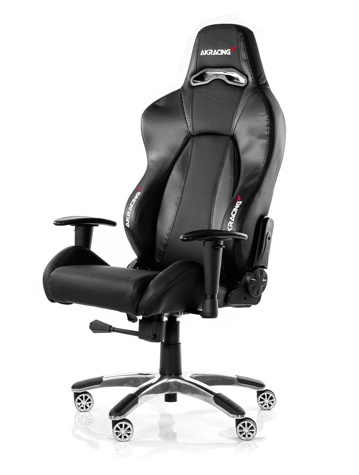Akracing premium gaming chair carbon black v2 wrgamers