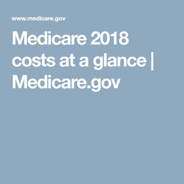 Medicare 2018 Costs At A Glance Medicare Gov Medicare