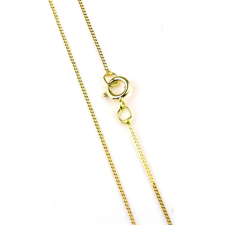 Arranview Jewellery 46cm/18inch Trace Chain Curb Style - 9ct Gold xb1PbXfDzD
