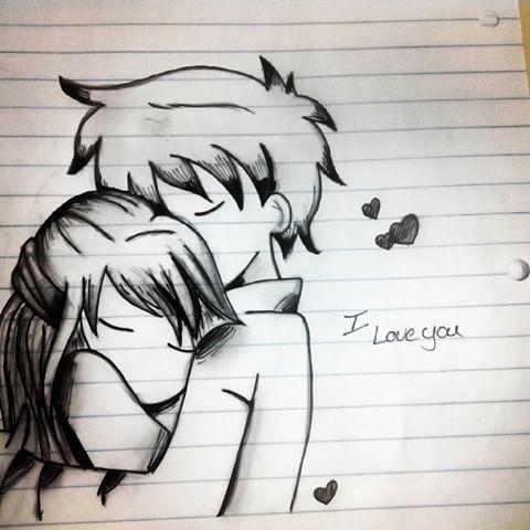 Drawn Hug Chibi Pencil And In Color Drawn Hug Chibi