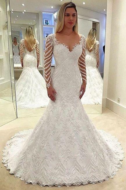 Elegante Weiße Brautkleider Spitze Günstig ...
