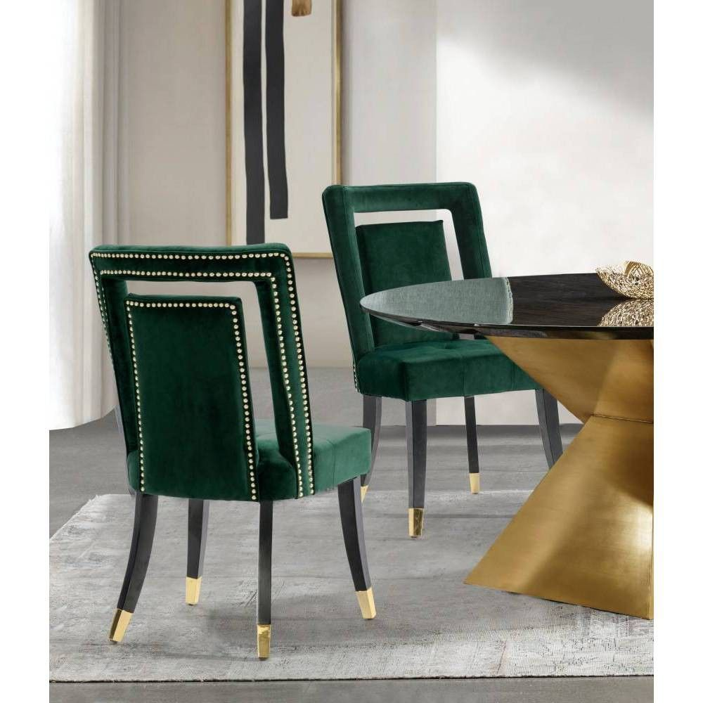 Set Of 2 Ellie Dining Chair Green Chic Home Design In 2021 Dining Chairs High Back Dining Chairs Upholstered Dining Chairs